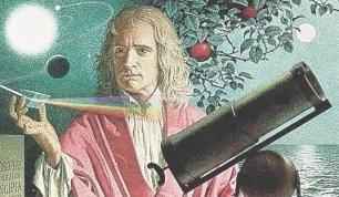A Portrait of Sir Issac Newton by Jean-Leon Huens (1921 – 1982).