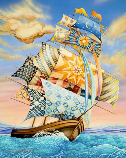 "Women on Board, 19 x 25"", limited edition print, by Dennis McGregor. This post first appeared in August, 2011."