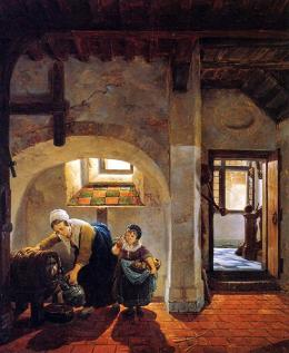 Abraham van Strij (1753–1826) - Woman and Child in Basement.