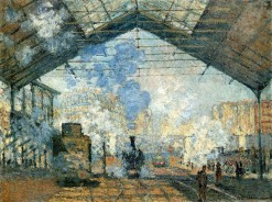 Claude Monet (1840-1926) The Saint-Lazare Station 1877.